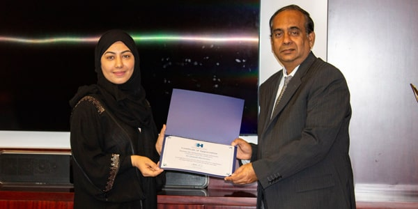 Al Ghandi Electronics Honored by HBMSU for Achieving Highest Service Levels